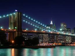 Brooklyn Flag Us Flag Brooklyn Bridge At Night Wallpaper Logic Bounces Off