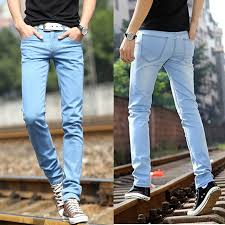 light wash jeans mens 2018 light blue jeans for men high quality fashionable slim fit