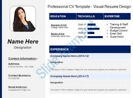 powerpoint resume template professional cv template visual resume design powerpoint shapes