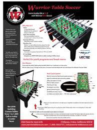 foosball table brochure u0026 foosball affiliate tool