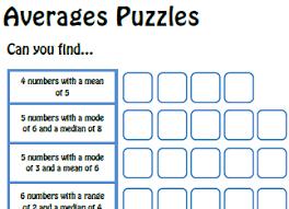 lesson plans averages mean median mode