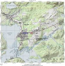 Topography Map Park Motel Cabins Lodging In Tupper Lake Topographic Map Of