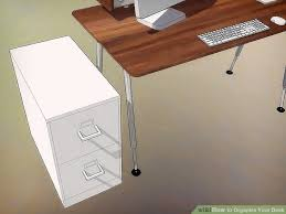 Desk Organize How To Organize Your Desk 13 Steps With Pictures Wikihow