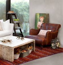 sensational rustic leather chair in small home decor inspiration