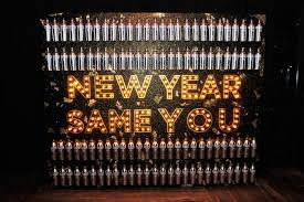 new years back drop svedka bottles and the message new year same you decorated a