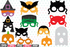 halloween photo booth props printable pdf halloween monsters props kids masks photobooth props photo booth