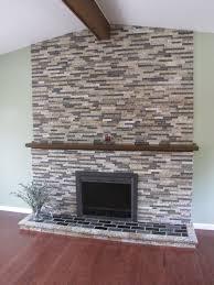 fireplace facade over brick home decorating interior design