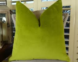 green couch pillow etsy