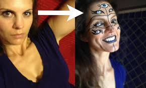 Halloween Monster Faces by Crazy Halloween Makeup Idea Easy Many Eyed Cyclops Face Paint