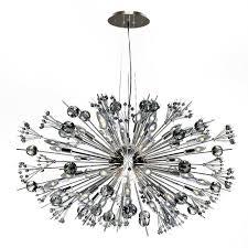 sputnik chandelier lamp awesome worldwide lighting starburst 24 light polished