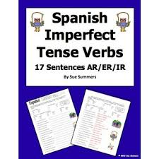 imperfect tense verbs worksheet 17 sentences
