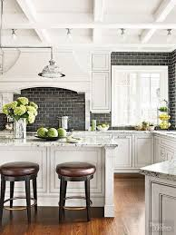 new pictures of black and white kitchen backsplashes black and