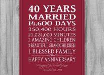 40 year anniversary gift what is the traditional gift for a 40th wedding anniversary gift
