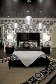 black and white bedroom wallpaper decor ideasdecor ideas ahh love the black on grey wallpaper bedroom wall here we come