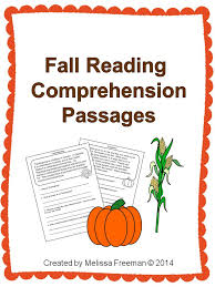 fall reading comprehension passages reading passages