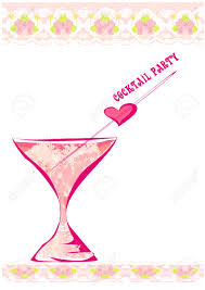 invitation to birthday cocktail party royalty free cliparts