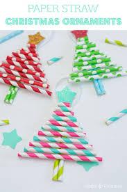 diy ornaments pretty paper straw trees