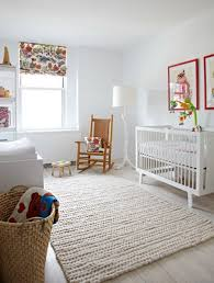 Modern Nursery Rugs A Modern Nursery That S White Warm Modern Nurseries Nursery