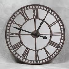 perfect decoration large mirrored wall clock wondrous design ideas