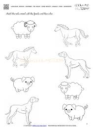 farm animals worksheet activity sheet 8