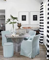 Black And White Stripe Curtains Cottage Dining Room With Black And White Striped Curtains