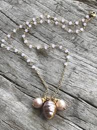pink pearl gold necklace images One of a kind gold necklaces by sage official site of sage jpg