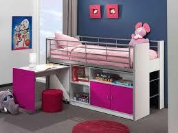 lit surélevé avec bureau lit mezzanine avec bureau enfant