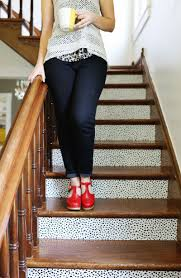 customize stairs with removable wallpaper renter friendly u2013 a