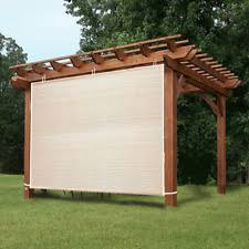 pergola roll up outdoor porch shades patio blinds deck sun screen