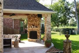Outdoor Fireplace Houston by Covered Patio Corner Fireplaces Ideas Creative Fireplaces Design
