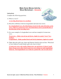 wave worksheet answers