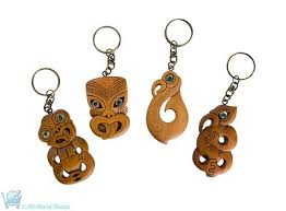 wooden keychains carved wood keychain maori symbols shop new zealand wood