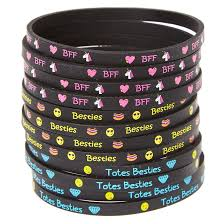 rubber wristband bracelet images Best friend emoji rubber bracelets claire 39 s us jpg