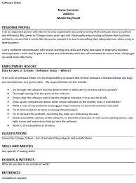 Test Engineer Resume Template Sample Testing Resumes Testing Resume Sample Mobile Testing