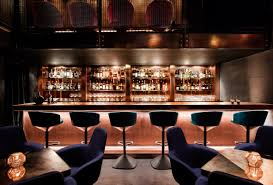 Speakeasy Bar Dramatically Lit Copper Bar Is The Centerpiece Of Himitsu An