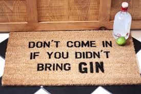 Novelty Doormats Gin Lover Doormat Housewarming Gift By More Than Words