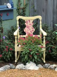 shabby glam rocking chair planter curbside find