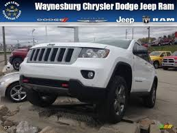 white jeep red interior 2013 bright white jeep grand cherokee trailhawk 4x4 73135699