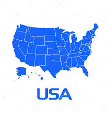 Usa Map By States by Usa Map With States U2014 Stock Vector Deskcube 9966098