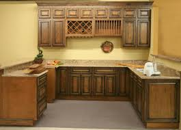 rustic pecan maple kitchen cabinets