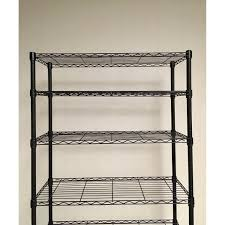 container store intermetro 7 shelf black metal shelving aptdeco