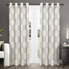 Curtains White And Grey Buy Grey Grommet Curtains From Bed Bath Beyond