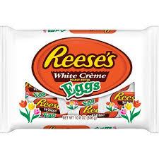 peanut butter eggs for easter reese s easter white peanut butter eggs 10 8 ounces walmart