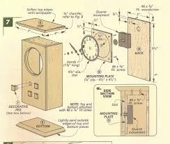 Free Wooden Clock Plans Download by Arts And Crafts Clocks Arts And Crafts Mantle Clock Exploded