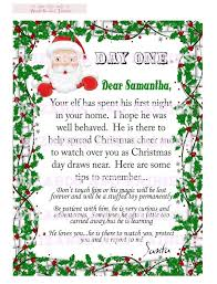 elf on the shelf letter from santa includes tips personalized