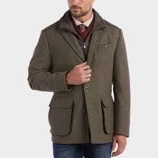 joseph abboud tan stripe modern fit car coat men s casual