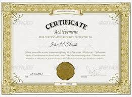 certificates of achievement templates free free certificate
