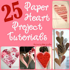 25 easy paper heart projects paper hearts tutorials and heart