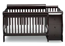 black crib with changing table black crib with changing table chager frot attached combo