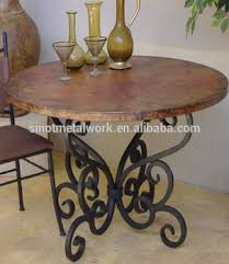 wrought iron tables for sale decorative wood pedestal round bent metal table base wrought iron